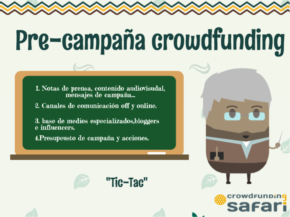 Pre-campaña safari crowdfunding